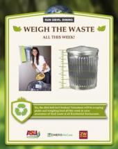 Weigh the Waste Poster