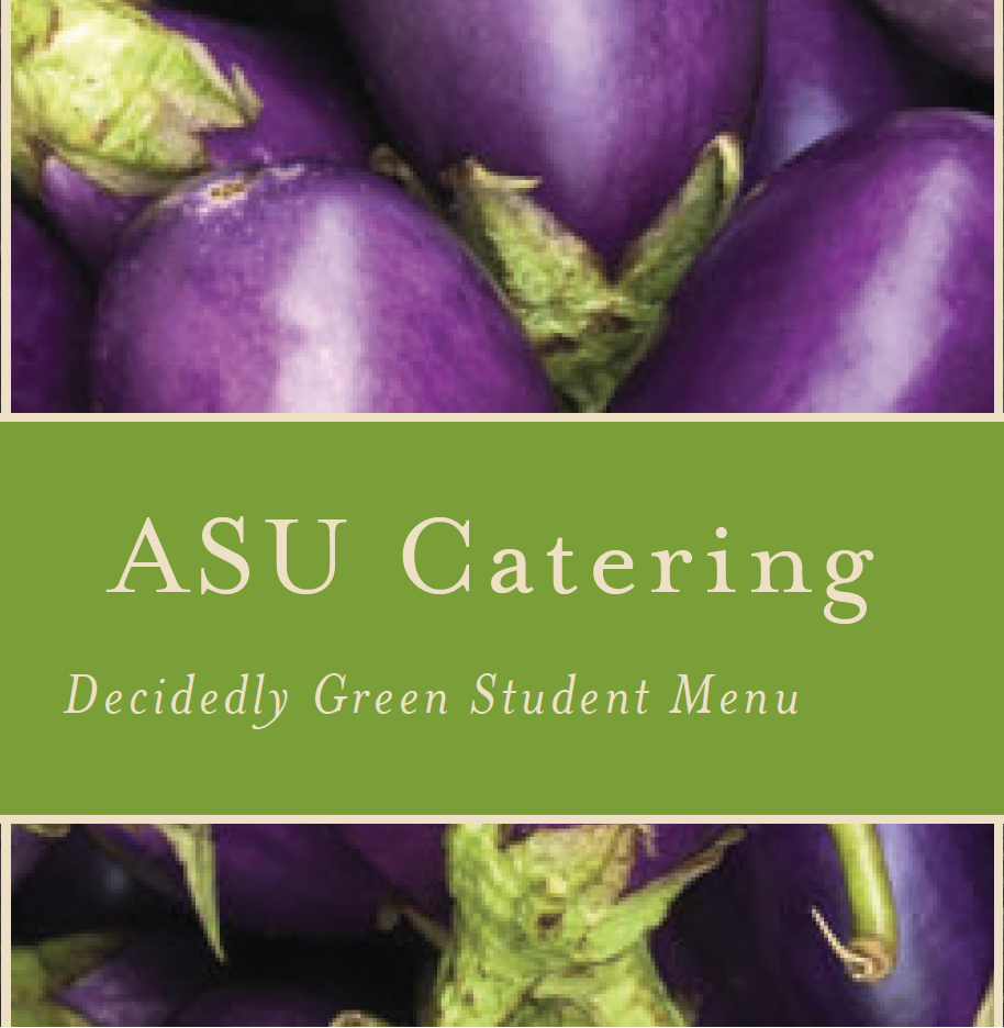 Student Organization Decidedly Green Catering Menu  PDF