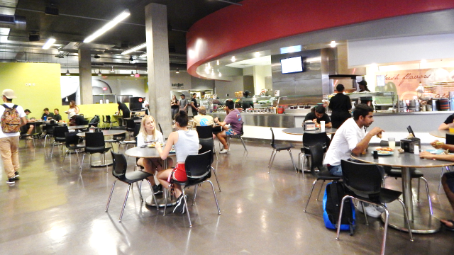 View of Hassyampa Dining Hall Seating