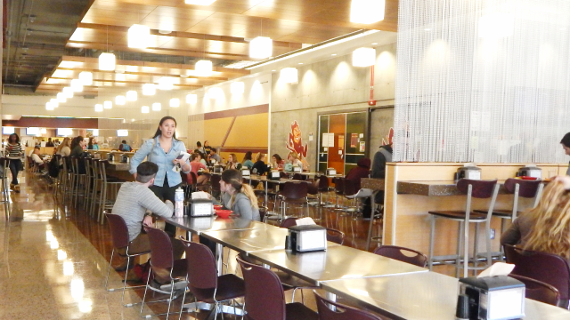 View of Taylor Place Dining Hall Seating