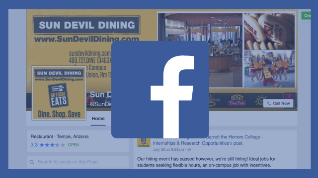 Sun Devil Dining Facebook Page and Logo