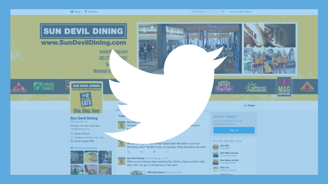 Sun Devil Dining Twitter Page and Logo